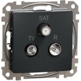 Zásuvka koncová TV+R+SAT...